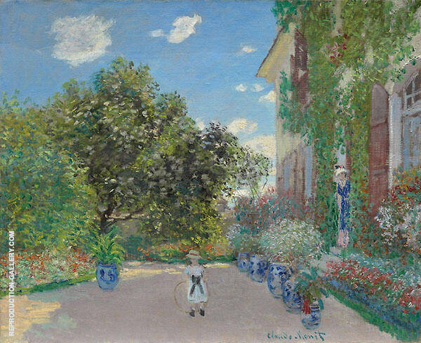 The Artists's House at Argenteuil 1873 By Claude Monet