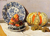Still Life with Melon 1872 By Claude Monet