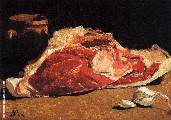 Still Life with Meat c1862 By Claude Monet