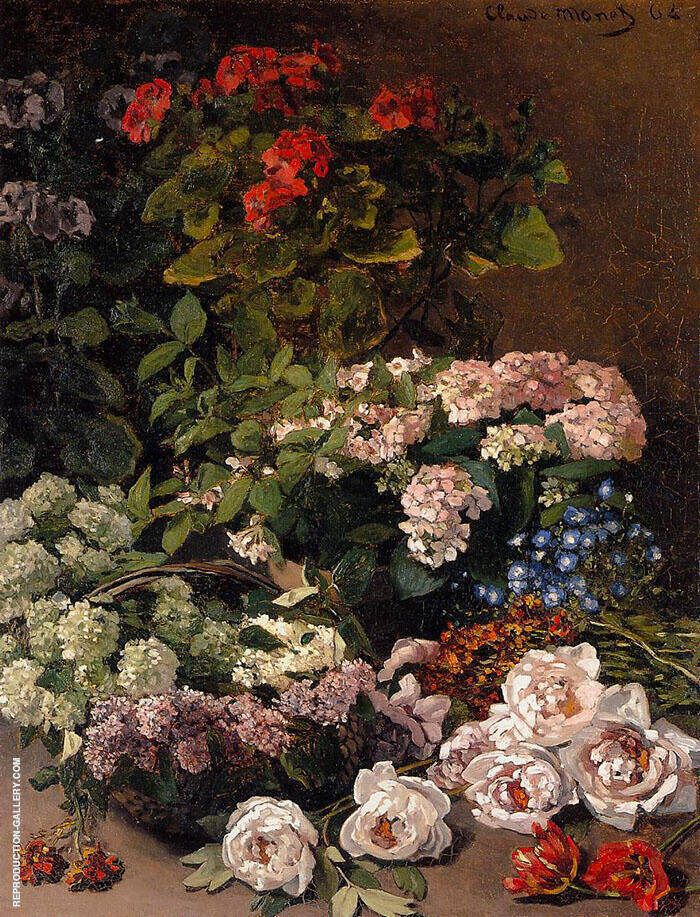 Spring Flowers 1864 By Claude Monet
