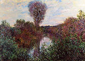 Small Arm of the Seine at Mosseaux 1878 By Claude Monet