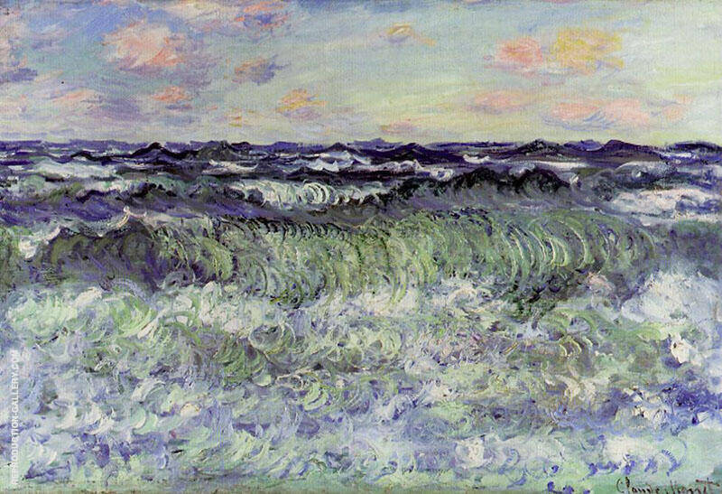 Study of the Sea 1881 Painting By Claude Monet - Reproduction Gallery