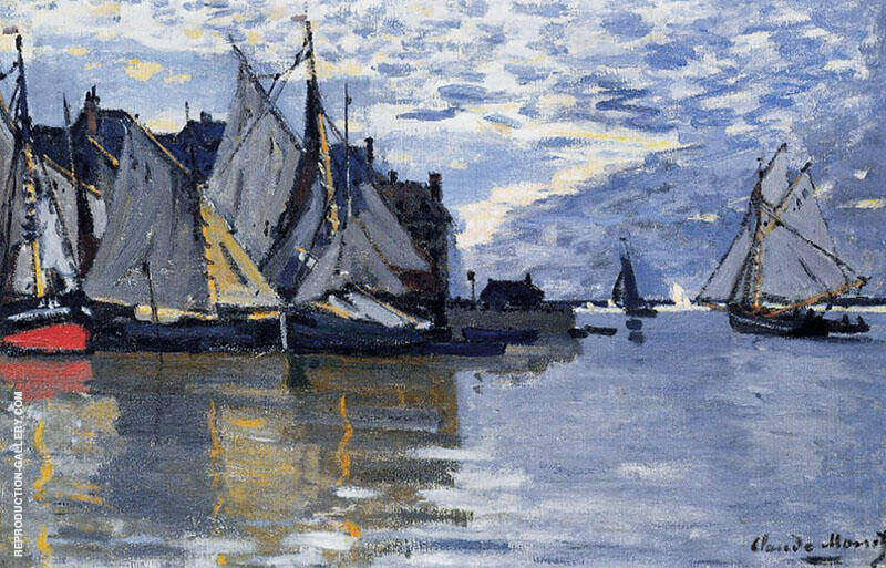 Sailboats c1864 By Claude Monet