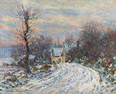 Road to Giverny in Winter 1885 By Claude Monet