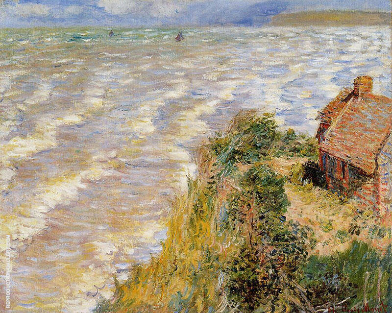 Rising Ride at Pourville 1882 By Claude Monet