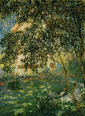 Relaxing in the Garden Giverny 1876 By Claude Monet