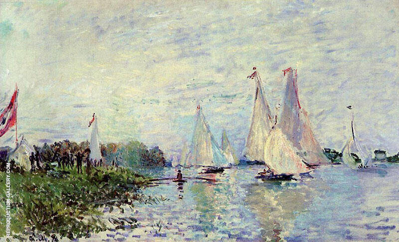 Regatta at Argenteuil 1874 By Claude Monet