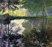 Pond at Mongeron 1876 By Claude Monet