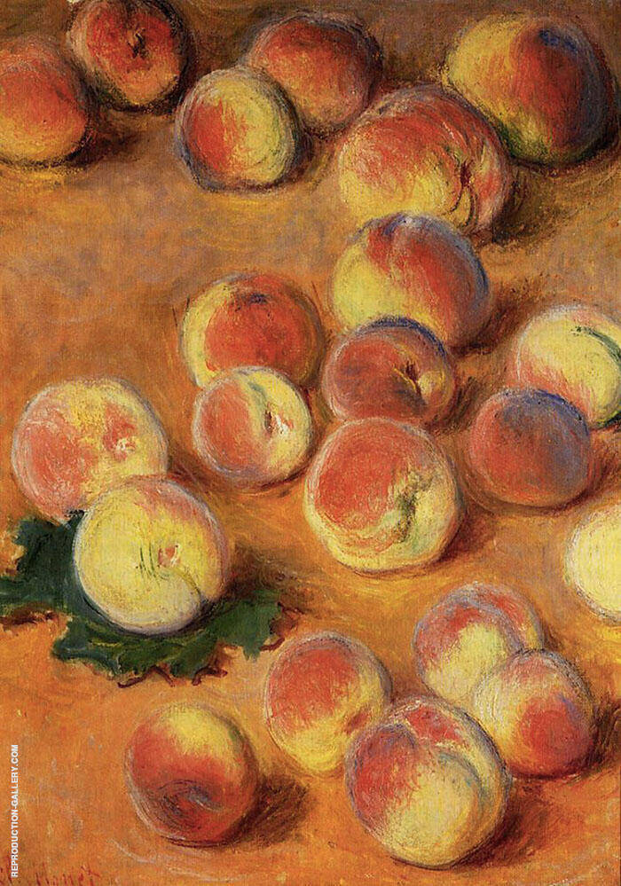 Peaches 1883 By Claude Monet