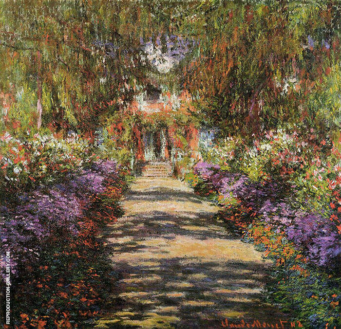 Pathway in Monet's Garden at Giverny c1901 By Claude Monet