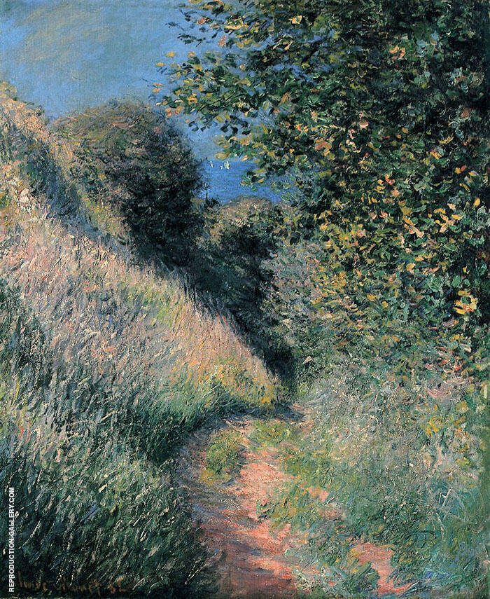 Path of La Cavee at Pourville 1882 By Claude Monet