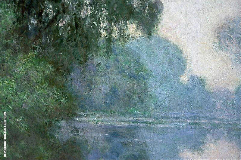 Morning on the Seine 1896 By Claude Monet