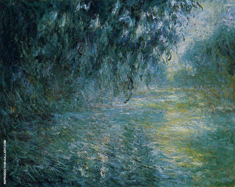 Morning on the Seine in the Rain 1897 By Claude Monet