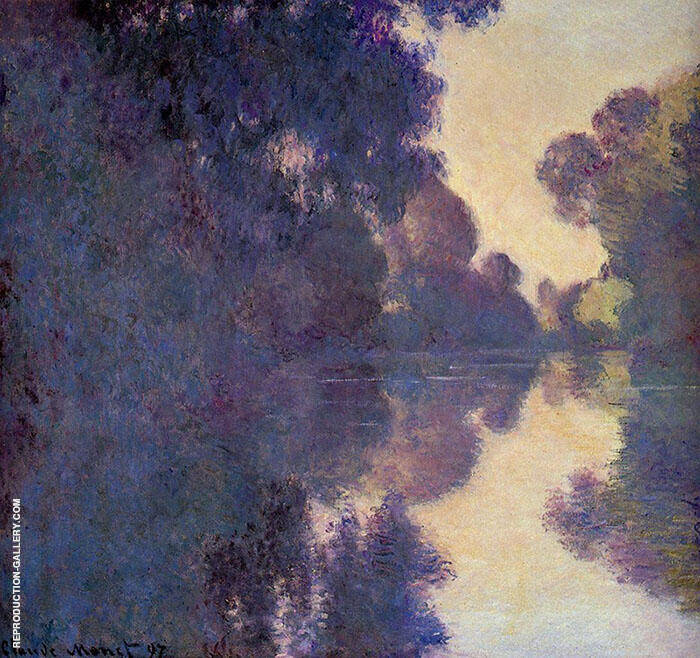 Morning on the Seine Clear Weather 1897 By Claude Monet