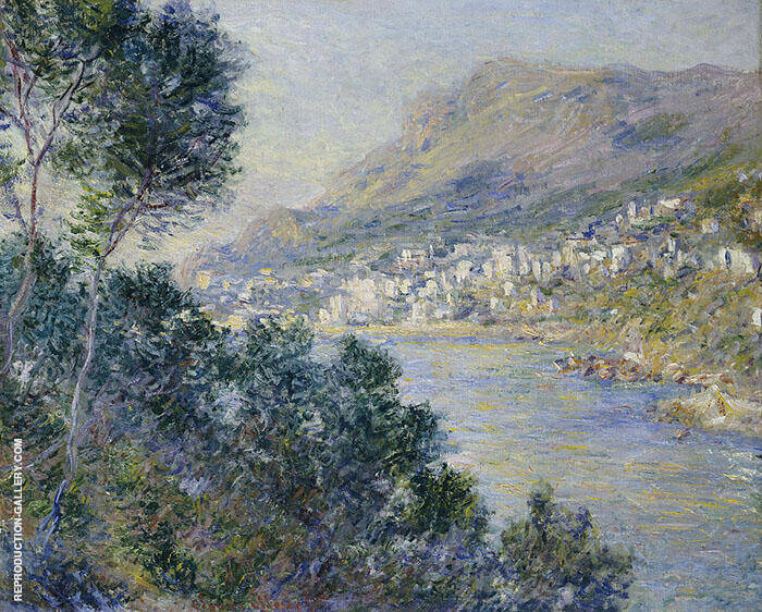 Monte Carlo seen from Roquebrune 1884 By Claude Monet