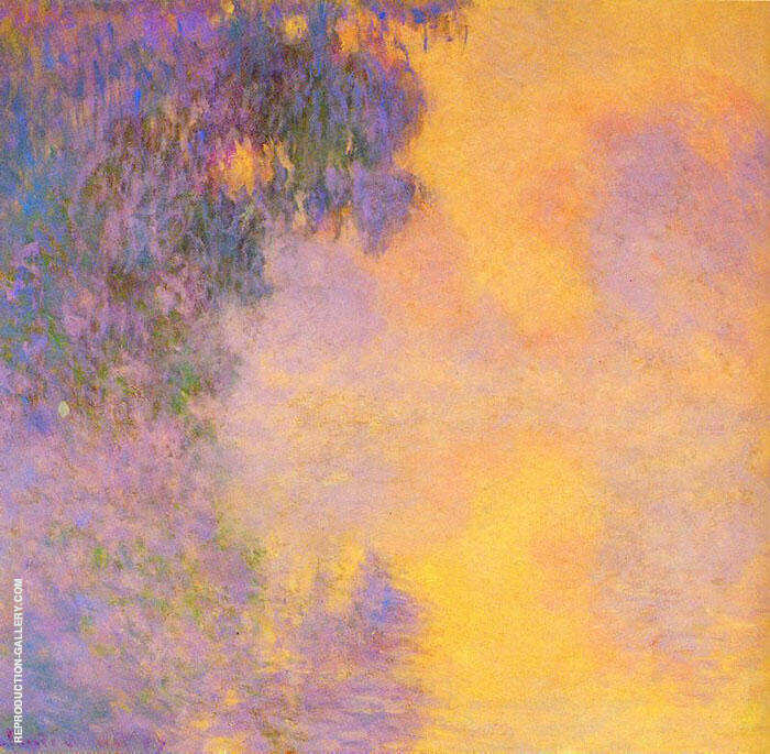 Misty Morning on the Seine Sunrise 1892 By Claude Monet