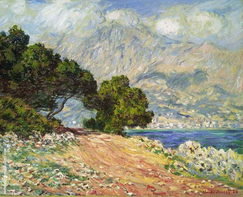 Menton Seen from Cap Martin 1884 By Claude Monet