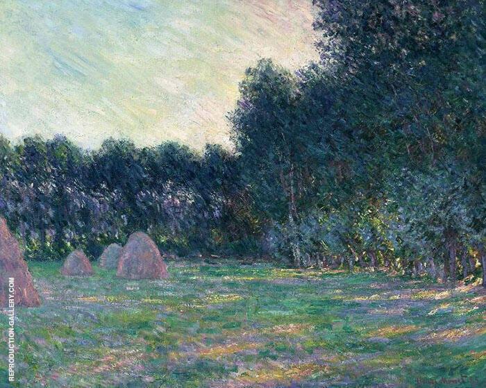 Meadow with Haystacks 1885 By Claude Monet
