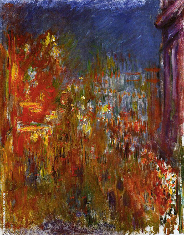 Leicester Square at Night c1900 By Claude Monet