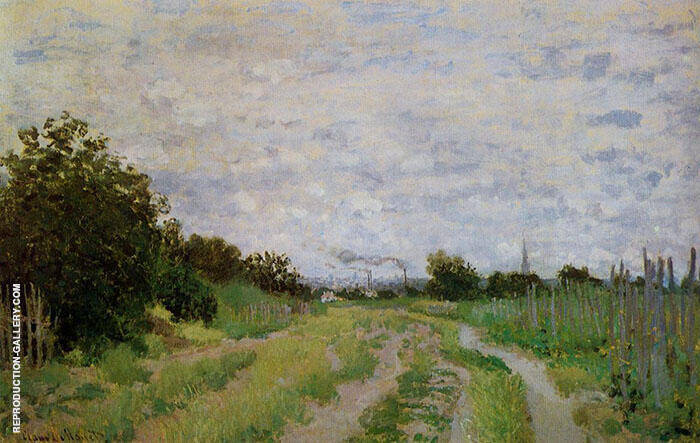 Lane in the Vineyards 1872 By Claude Monet
