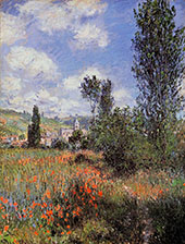 Lane in the Poppy Fields Ile Saint Martin 1880 By Claude Monet
