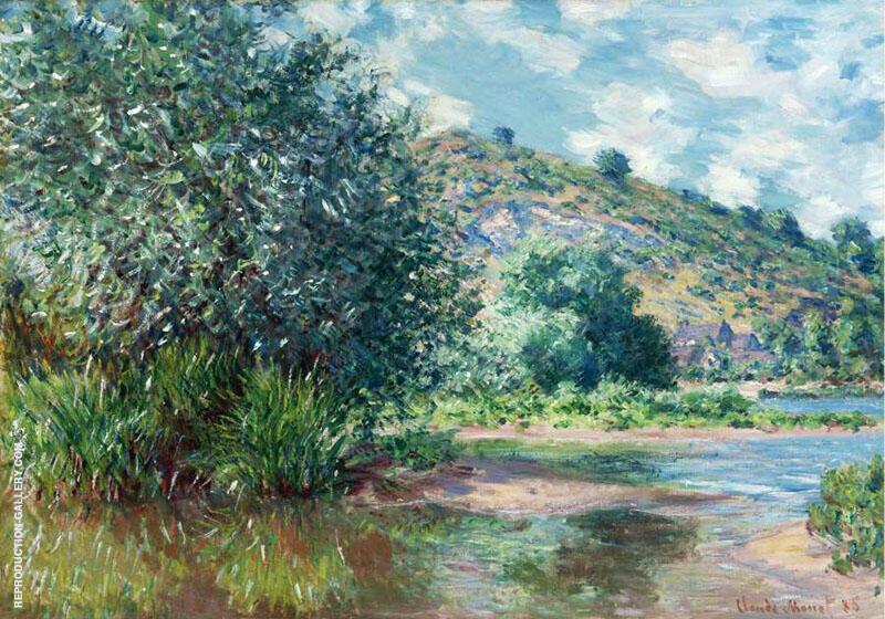 Landscape at Port Villez 1885 By Claude Monet