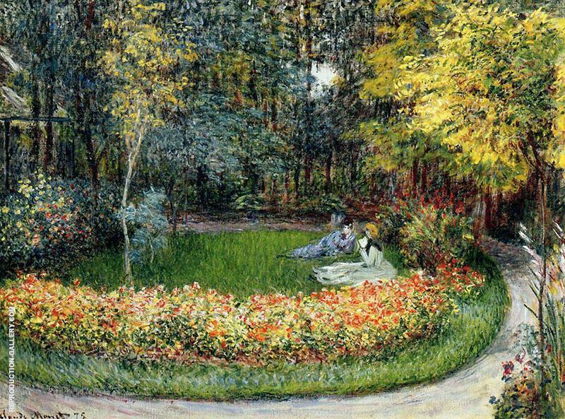 In the Garden 1875 By Claude Monet