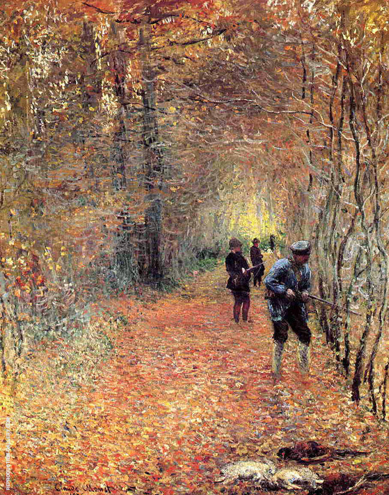 Hunting also known as The Shoot 1876 By Claude Monet