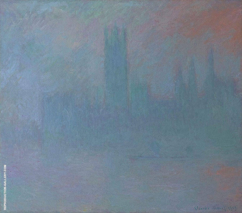 Houses of Parliament in the Fog By Claude Monet