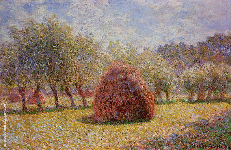 Haystacks at Giverny 1895 By Claude Monet