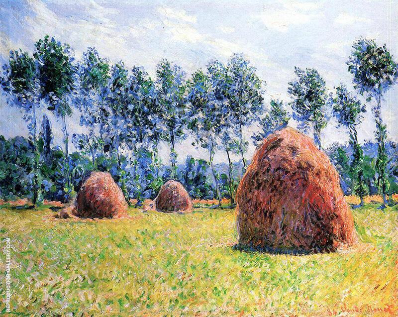 Haystacks at Giverny 1884 By Claude Monet