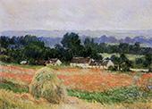 Haystacks at Giverny 1886 By Claude Monet