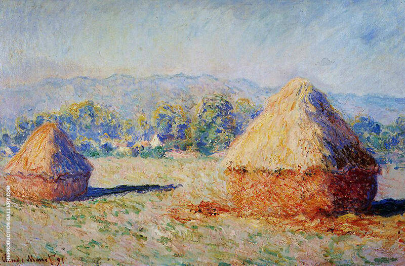 Grainstacks in the Sunlight Morning Effect 1890 By Claude Monet