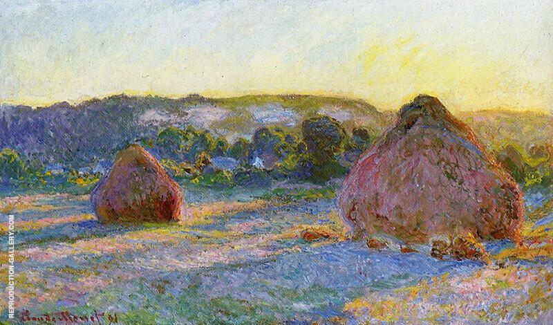 Grainstacks at the end of Summer Evening Effect 1890 By Claude Monet