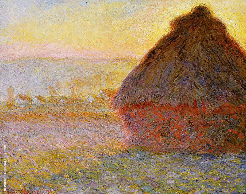 Grainstacks at Sunset 1891 By Claude Monet