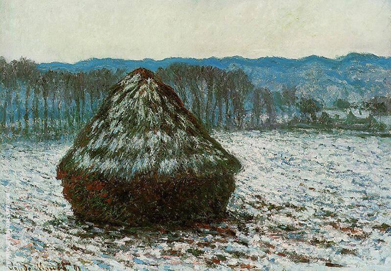 Grainstacks c1890 By Claude Monet