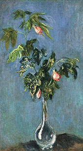 Flowers in a Vase By Claude Monet