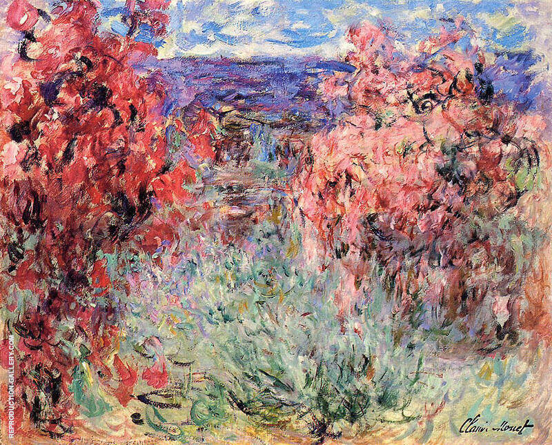 Flowering Trees near the Coast c1920 By Claude Monet