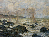 Fishing Nets at Pourville 1882 By Claude Monet