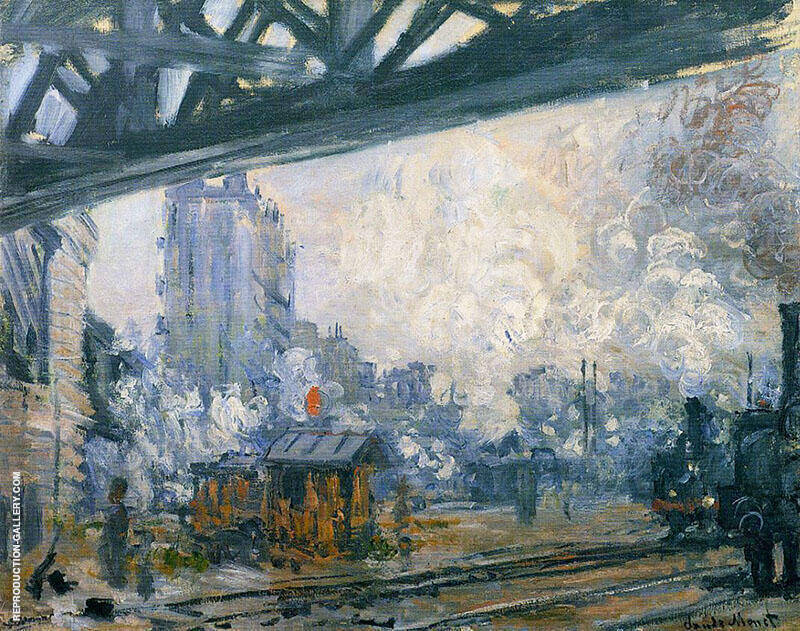 Exterior View of the Saint Lazare Station 1877 By Claude Monet