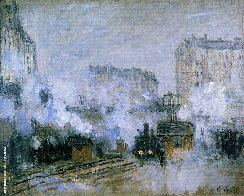 Arrival of a Train Saint Lazare Station 1877 By Claude Monet
