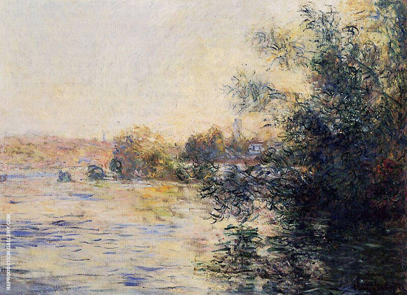Evening Effect on the Seine 1881 By Claude Monet