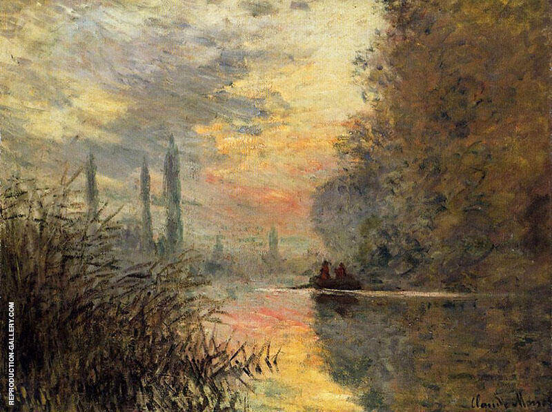 Evening At Argenteuil 1876 By Claude Monet