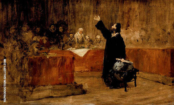 Columbus Before The Council of Salamanca By William Merritt Chase