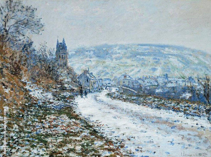 Entrance to the Village in Winter 1879 By Claude Monet
