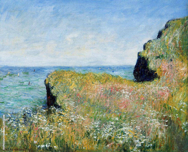 Edge of the Cliff at Pourville 1882 By Claude Monet