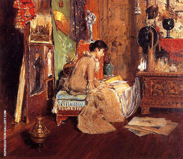 Connoisseur The Studio Corner 1882 Painting By William Merritt Chase