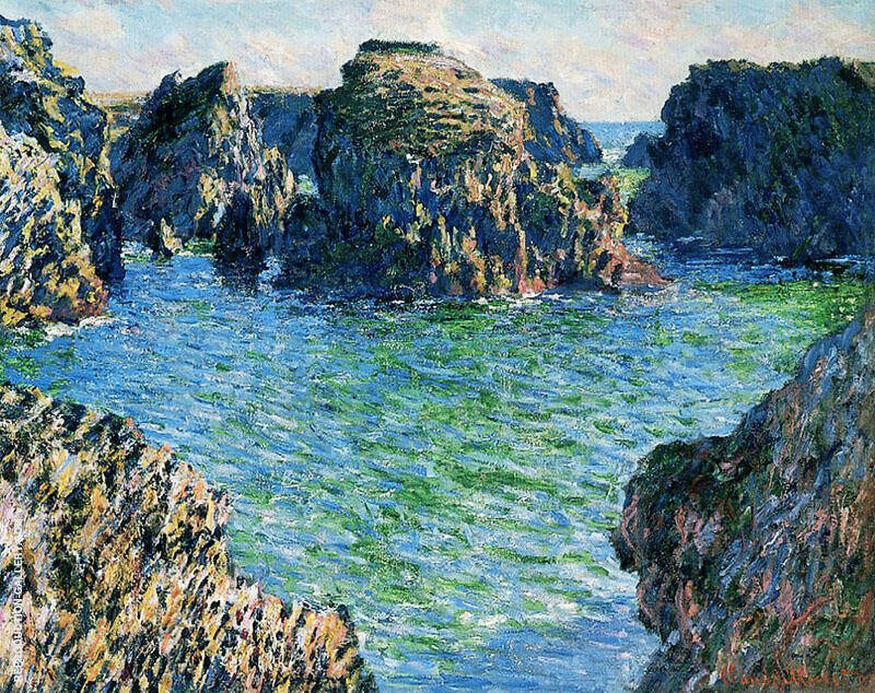 Coming into Port Goulphar Belle Ile 1886 By Claude Monet
