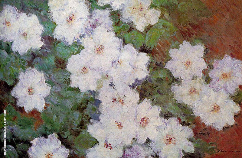 Clematis 1887 By Claude Monet