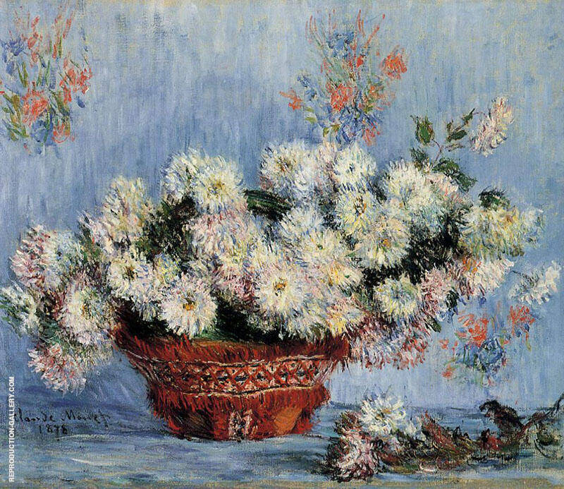 Chrysathemums 1878 By Claude Monet